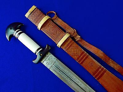 Vintage African Africa Short Sword w/ Scabbard