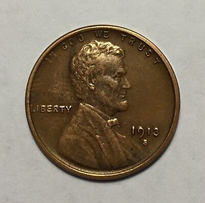1913 S 1C Lincoln Wheat Cent