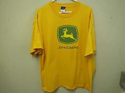 "Yellow, John Deere T-Shirt, ""Nothing Runs Like A Deere"". Size XL."