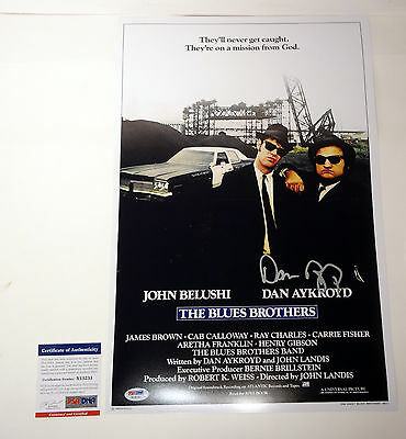 Dan Aykroyd Signed Autograph The Blues Brothers Movie Poster Proof Psa/dna Coa 1