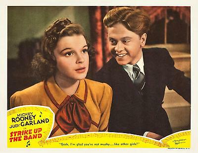 JUDY GARLAND & MICKEY ROONEY together * STRIKE UP THE BAND * 11x14 LC print 1940