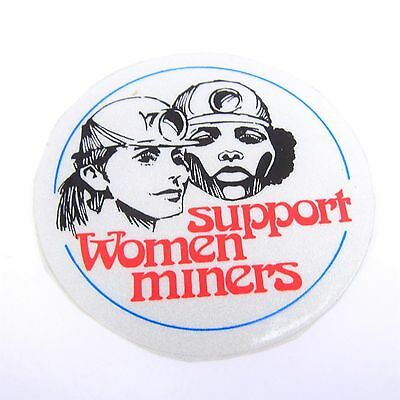 Vintage Coal Mining Sticker Support Women Miners 70's 80's Small 2.5 Inch
