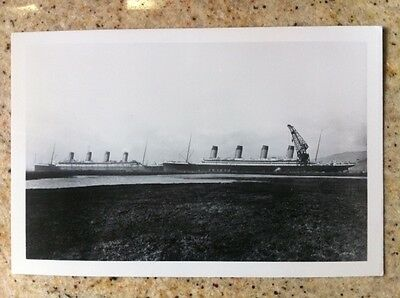 White Star Titanic and Olympic 4 1/2x 7 photo unique