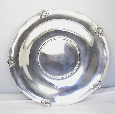 """Gumps Sterling Silver Serving Plate Tray 11.5"""" 472g"""