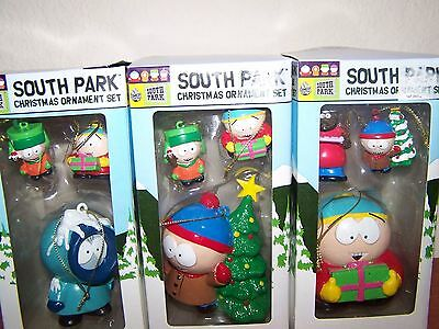 (3) New South Park 3 Piece Christmas Tree Ornament Set Free Shipping