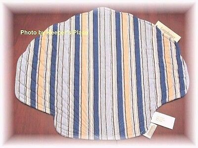4 Longaberger Cabana Stripe Quilted Placemats Clam Shell Nautical New Tags