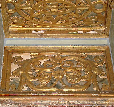 ▇  +-2METER SHELF OTTOMAN 18TH CENTURY WOODEN GILDED STUCCO.ORIGINAL.raf Osmanlı