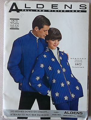 1964 ALDENS FALL-WINTER DEPT STORE CATALOG Filled With 60's Retro Fashion Styles