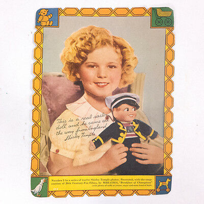 """Vintage Shirley Temple Cereal Box Collectible Cards 8"""" x 6"""""""