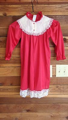 VINTAGE HER MAJESTY GIRL'S  SIZE 6 RED HOUSECOAT or ROBE