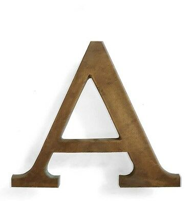 Vintage solid brass letter - A, industrial, architectural element 5.25""
