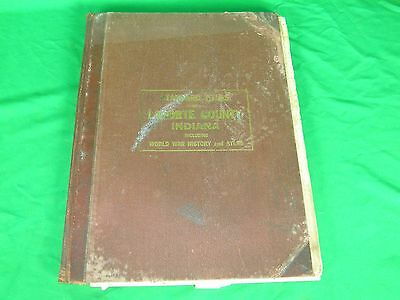 1919 Standard Atlas Of LaPorte County IN Plat Book WW1 WWI History
