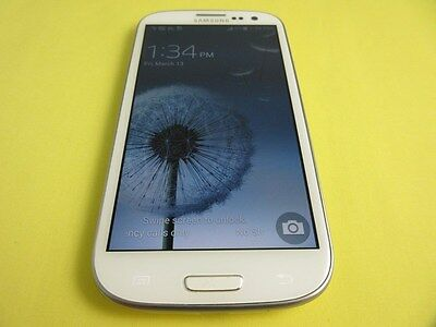 Near Mint Cond Samsung Galaxy S Iii Sgh-T999 T-Mobile  Touch Screen White Color