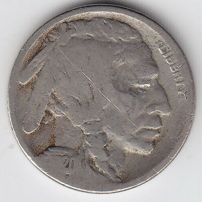 1920 United States (USA) – S – Buffalo Five Cent Nickel Coin