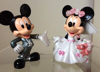 Disney Mickey And Minnie Wedding   Cake Toppers