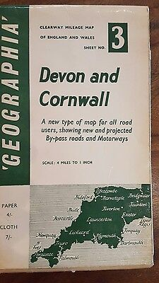 Vintage Geographia map of Devon and Cornwall (#3)