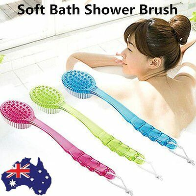 Bath Shower Brush Body Feet Brush Long Handle Health Care Massage Cleaner AU