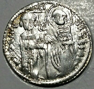 "King Stefan Uros II Milutin (1282-1321), Silver ""cross"" Dinar. High grade"