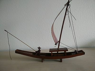wooden hand carved boat