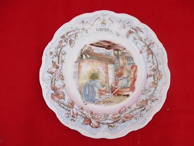 "BRAMBLY HEDGE ROYAL DOULTON ""WINTER""  Signed JILL BARKLEM 1982"
