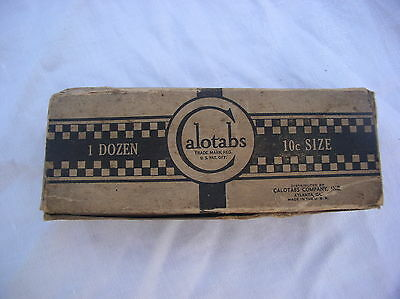 Vintage Advertising Calotabs 10 Cent Size With Store Display Box