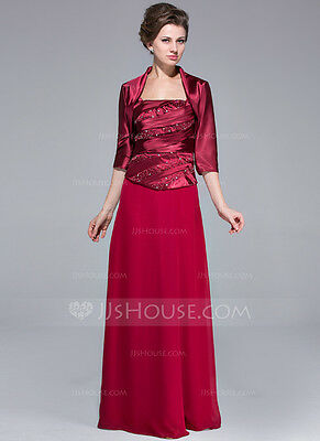 9bb83f2692349 JJs House Mother of the Bride Long RED Formal Wedding Evening Dress Plus Sz  20W