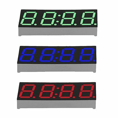Creative 4 Digit LED Digital Electronic Clock Light Control Transparent Case LN