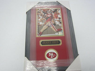 Jerry Rice San Fransisco 49ers Signed Autographed Matted Framed Photo COA
