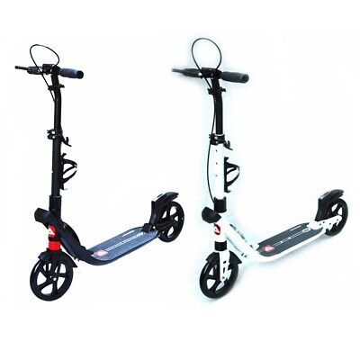 Push Scooter City Commuter 200mm Big Wheel folding Dual Suspension Adults Kids