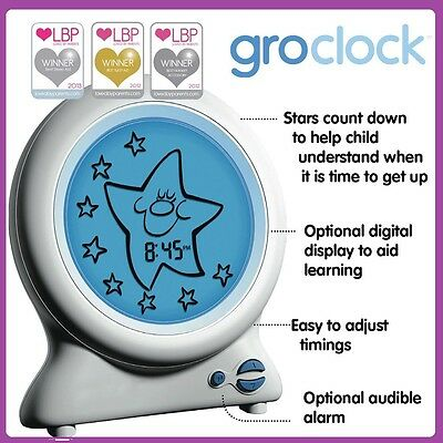 New Baby GRO Clock By GRO Company Sleep Training Night Light Aust Free Shipping
