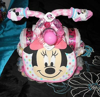 Minnie Mouse Tricycle Diaper CakeMickey Mouse More Made To Order Custom Orders