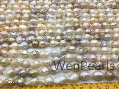 A+ 9-11.5mm golden Edison Fresh Water Pearl,full strand loose pearl