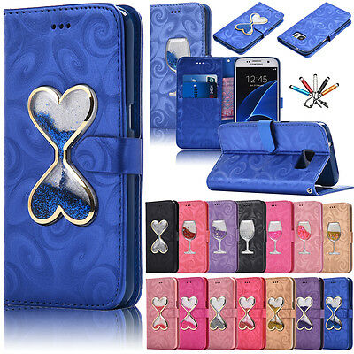 Luxury Pattern Flip Leather Wallet Card Slot Case Stand Cover For Samsung Phones