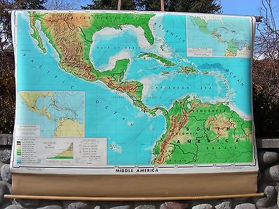 Wall Map of Middle (Central) America
