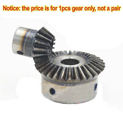 Bevel Gear 1.5 Mod 15T/30T Bore 5/6/8/10/12/15mm 90° 1:2 Pairing Bevel Gear x1Pc