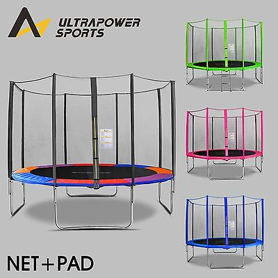 ULTRAPOWER 8-14 FT Replacement Trampoline Safety Net Enclosure Pad Cover Ladder