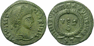 FORVM Thracian or Germanic Tribes Pseudo-Roman-Imperial AE3 Votive Imitative