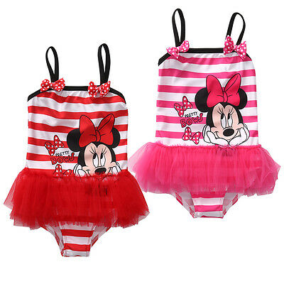 Kids Girls Cartoon Bikini Swimwear Tankini Tutu Swimsuit Beachwear Bathing Suit