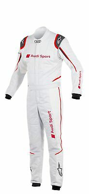 Audi Sport Rennanzug Racingsuit Alpinestars GP Tech Suit white-red FIA-certified