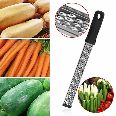 Multifunction Stainless Steel Zester Cheese Chocolate Lemon Fruit Grater AU