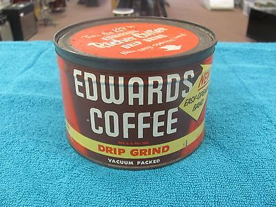 Vintage Edwards Coffee can 1 lb. 1957