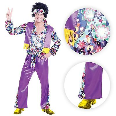 M/L Deluxe Adult Mens 60s 1970's Disco Fever Flares Shirt Fancy Dress Costume