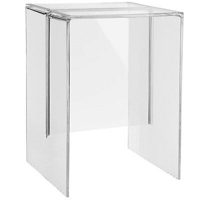 RRP £200. Genuine Kartell by Laufen Max Beam Stool/Table in Crystal. NIB.