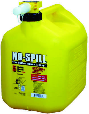No-Spill 1457 Diesel Gas Can, 5 gal, 15 in H, Plastic, Yellow