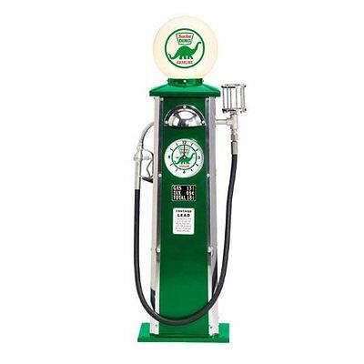Green Dino Sinclair Vintage Look Gas Pump with Clock & Lighted Globe