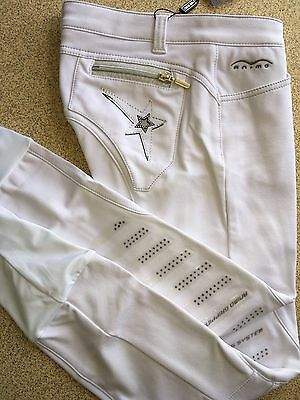 Animo Breeches White  i40 US8 with gripping BN