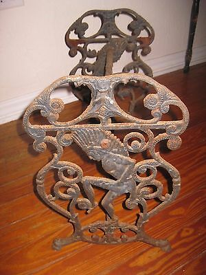 Antique Ornate Iron Chief Vanity Bench Piano~Stool~Seat~Table~Fireside Chair