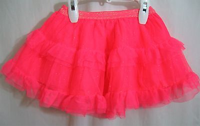 Girls 2T Neon Pink Tutu Lined Ew Skirt Silver Sparkle Nwt ~ The Children's Place