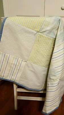 Handmade Baby Boy Quilt Upcycled Plaids 32x32
