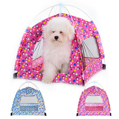 Portable Outdoor Camping Cat Dog Puppy Tent House Pet Kennel Foldable Waterproof